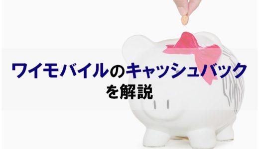 ワイモバイルのキャッシュバックを取りこぼしなく貰う方法を解説|公式1.4万円、代理店で最大2万円